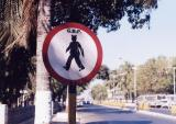 Pedestrians With Mouse Ears Crossing (Bombay)