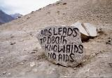 Aids Leads To Death Know Aids No Death (Ladakh)