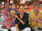 Visiting Karma (in black) and friends at the Tibetan market