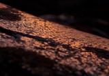 Setting sunlight on glacier-polished granite
