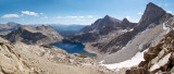 Columbine Lake from Sawtooth Pass