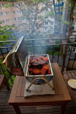 Barbeque on the balcony