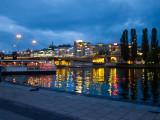 Slussen in evening lights