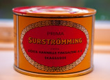 Can of fermented herring