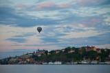 Hot air ballon over Stockholm