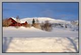 Bank of snow ; 2 m