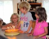 Ravi's birthday, with Gaia and Maya