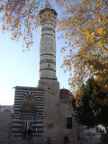 Minaret and entrance to the Ulu Cami in Old Adana.