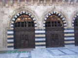Stonework inside the Ulu Cami.  I would love to photograph the beautiful tile in the mihrab, but men were praying there.