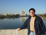 Bob on the Roman Bridge in Adana.