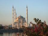 The Merkez Cami mosque from the Hilton.