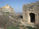 You go through a large hall to come out this door onto the fortress grounds.  We are still far from the next fortress.