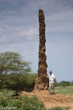 Vaughn and the tallest termite mound I've ever seen