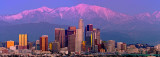 Los Angeles downtown with winter sunset backdrop I