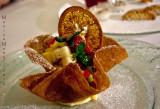 Cestino con crema pasticciera e frutta