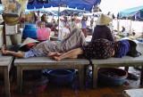 Sleeping in the market