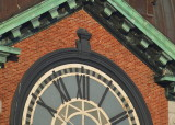 Peregrines: east face of clock face; pair on ledges at angle above 10 & 2 on clock face