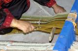 Beduin woman weaving
