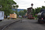 Wandering about in the Chama yard of the C&TS