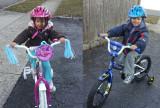 On Their New Bikes
