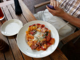 Sausage and Peppers with Rigatoni at Travinia Restaurant