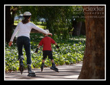 rollerblade in the park