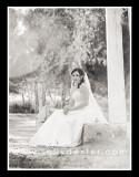 bridal garden pose