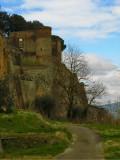 The Fortezza Albornoz rises above the cliff2329