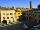 Piazza Broletto from our B&B window2793a