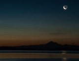 Moonrise at Willows Beach