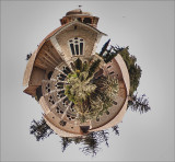 Old Photo of Latrun Monastry as a Planet.