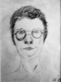 Autoportret  din tinerete (colectie autor)
