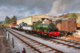Kilmersdon shunts wagons in Washford Station Yard.