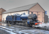 88 outside the engine shed at Minehead.