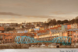 Hotwells swing bridge - Bristol as the sun goes down