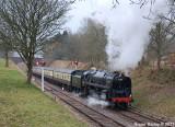 92203 Black Prince climbs up to Crowcombe Heathfield.