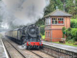 5197 arrives at Crowcombe Heathfield from Bishops Lydeard.