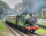 6695 arrives at Crowcombe Heathfield from Minehead.