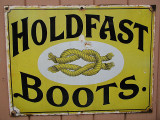Holdfast Boots sign.