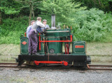Taffy on the Tiefi Valley Railway.