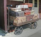 Luggage trolley on Llangollen station.