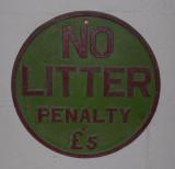 No litter.