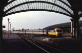 Class 43  northbound enters Darlington 1988.