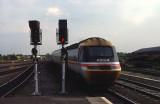Class 43194  ROYAL SIGNALS pulls into Darlington from Kings Cross - 1988.