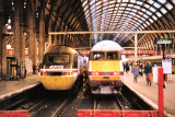 43113 CITY OF NEWCASTLE  UPON TYNE and Class 91 at Kings Cross 20 Oct 1991.