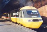 Class 43157 - YORKSHIRE EVENING POST at Darlington date uncertain.