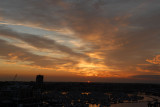 Sunset over Gosport Marina.