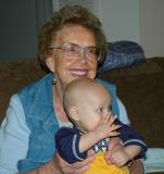 Great grandma Ruth with Brooks - 9 months