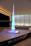 Model of the Burj Khalifa , the world's tallest building