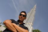 Dennis with the Burj Khalifa